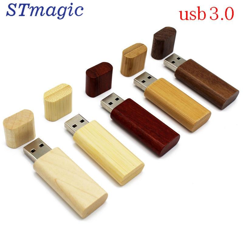 STmagic LOGO maple Wood/Walnut wood pendrive 4gb 8gb 16gb 32gb usb3.0 usb Flash Drive gift pendrive