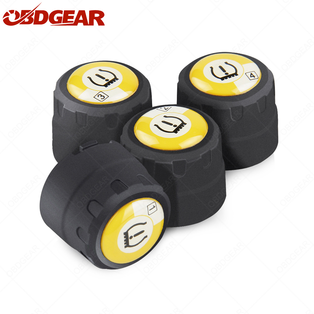 4 pcs a set TMPS Sensor Bluetooth for IOS andriod Replacement Parts Tire Pressure Monitoring Sensor