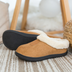 Image 3 - Winter Womens Slippers Big Size 35 50 Lovers Fur Slides Plush Flat Shoes Female Soft Home Keep Warm Cotton Shoes Casual Unisex