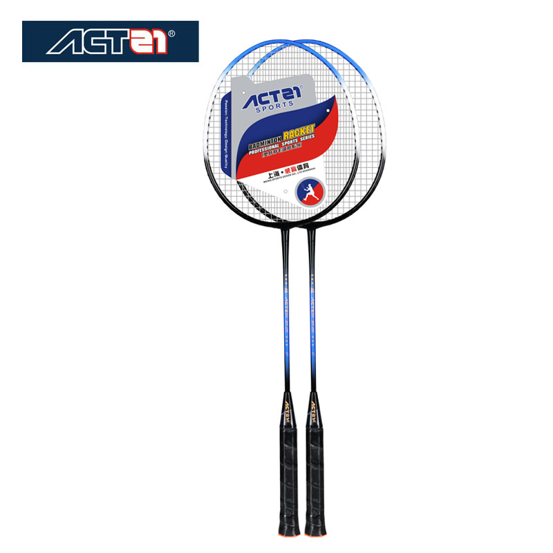 ACTEI Genuine Badminton Double Shot Ultra Light Composite Racket Resistant To Durable Badminton Racket Iron Alloy One