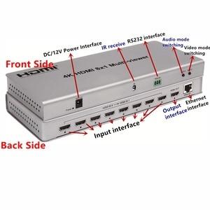 Image 3 - 4K HDMI 8x1 многоцелевый переключатель адаптер переключатель 8xhdmi на 1 экран, гнездовой разъем ИК передатчик управления для CCTV HDTV