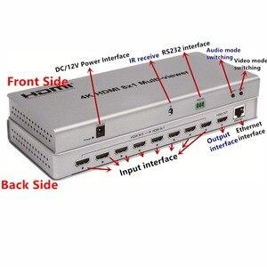 Image 3 - 4K HDMI 8x1 Multi Viewer Switcher อะแดปเตอร์ 8xHdmi 1 หน้าจอ, หญิง IR ควบคุม Divider Conveter สำหรับกล้องวงจรปิด HDTV