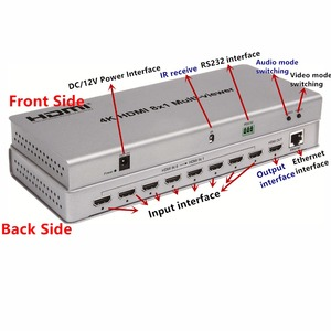 Image 3 - 4K HDMI 8x1 multi viewer commutateur adaptateur 8xhdmi sur 1 écran, connecteur femelle IR contrôle diviseur convètre pour CCTV HDTV