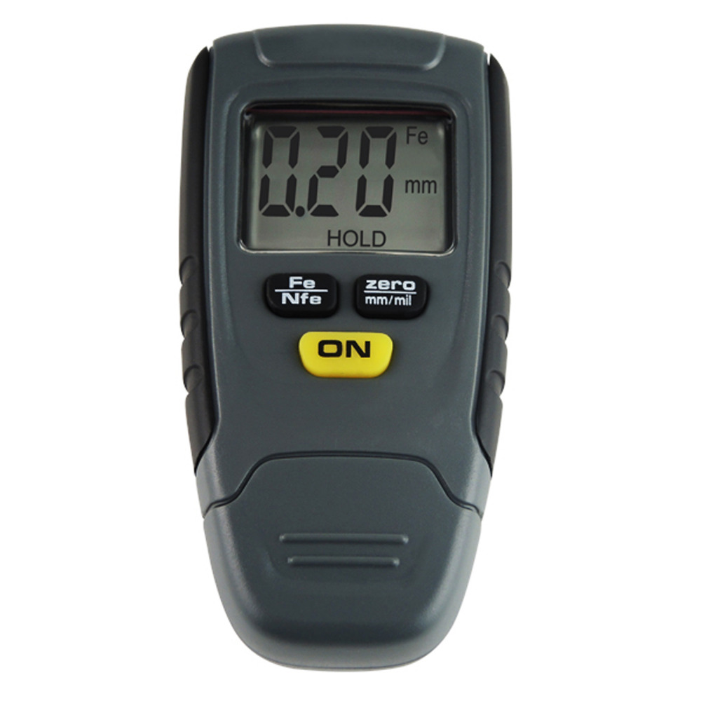 цена на Digital Paint Coating Thickness Tester 1.25mm Iron Aluminum Base Metal Painting Coat Gauge Thick Meter
