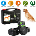 New 550M Electronic Remote Control Dog Training Collar Ultrasonic Dog Repeller with Green Button Anti Bark Whistle Shock Collar
