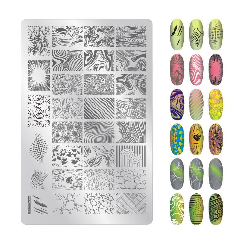 01-34 ZJoy Nail Art штамповочные пластины с изображением, 1 шт., фототаблички с изображениями, 9,5x14,5, HTY6767