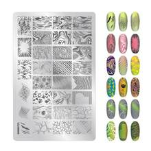 01-34 zjoy arte do prego que carimba a imagem placas 1 pces PLUS01-034 arte do prego que carimba placas de imagem do modelo do selo da placa 9.5x14.5, hty6767