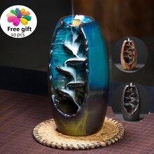 Горелка для благовоний с обратным потоком ладан Керамика ремесло Ddiffuser офис Mountain River Ремесленная держатель мать подарок