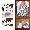 Cama Infantil Algodão Cobertores musselina Bebê Swaddle Toalha Multifuncional Envelopes Para Recém-nascidos Recebendo Cobertores