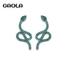 Женские серьги подвески в виде змеи gaola роскошные с кубическим