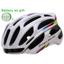 Casco de bicicleta moldeado Integralmente Casco de Ciclo Al Aire Libre Deportes Mountain Road MTB Bike Helmet Con Luces de Advertencia LED