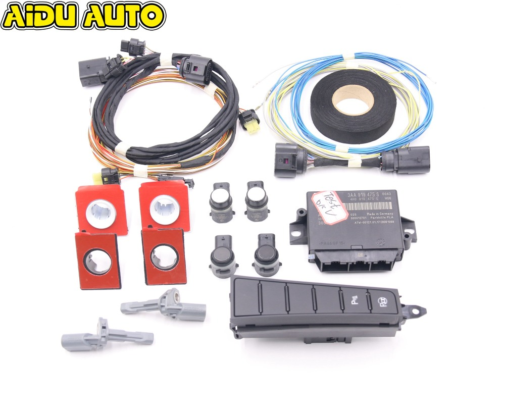 Intelligent Auto Parking Assist Park Assist PLA 2.0 USE For VW Passat B7 CC 3AA 919 475 S /M 8K TO 12K use fit for golf 6 jetta mk6 auto intelligent parking assist 12k park assist pla 2 0 upgrade ops install harness wire