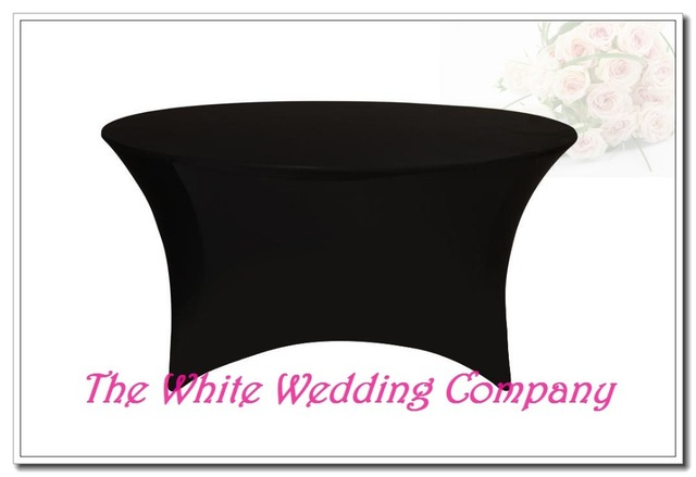10 BLACK 6ft Round Strenth Spandex Table Covers Cheap Banquet Tablecloths Round Table Covers Wedding Tablecloth Free Shipping