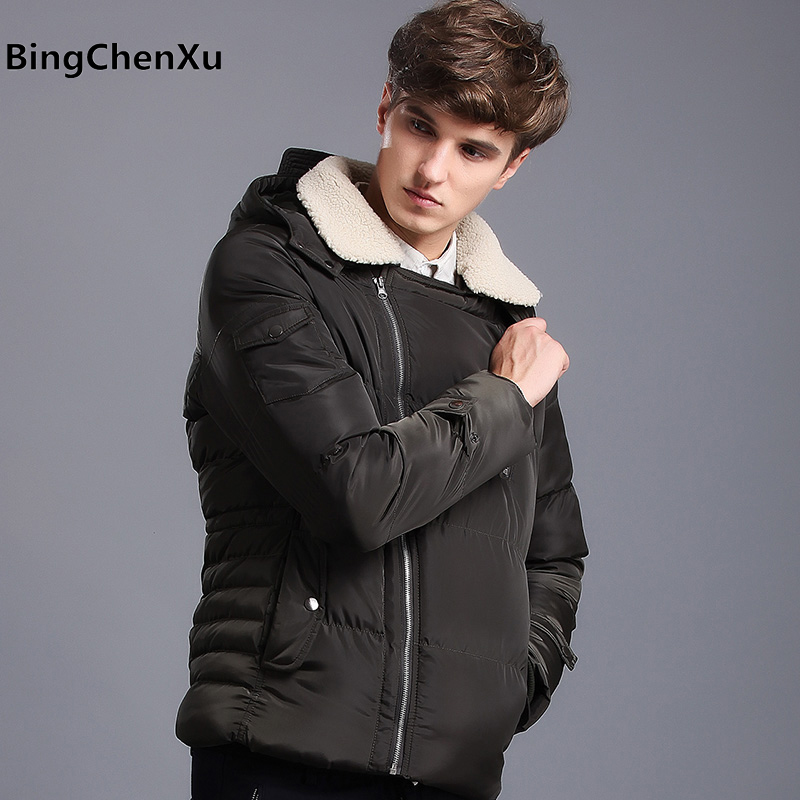 Thick warm down parka men overcoat winter jackets men coat down jacket with hood parka men coat masculine jacket plus size 435 free shipping winter jacket men down parka warm coat hooded cotton down jackets coat men warm outwear parka 225hfx