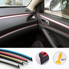 5M Car Styling Moulding Interior Decoration Strips Trim Dashboard Door Edge Universal For All Cars Auto Accessories Car-styling