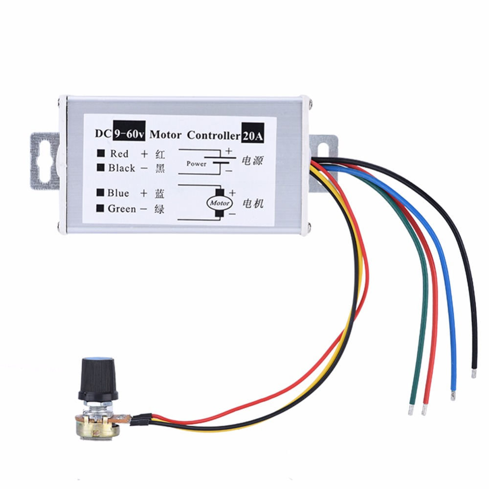 Accessories & Parts Honey Pwm Dc 9-60v 20a 1200w 25khz Motor Speed Controller Speed Regulator Switch Sufficient Supply Digital Cables