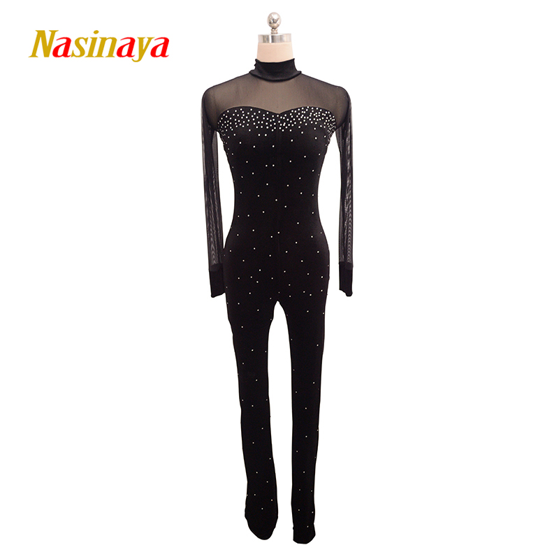 Nasinaya Figure Skating Leotard Jumpsuit For Girl Kids Women One Piece Customized Patinaje Ice Skating Costume Gymnastics 15