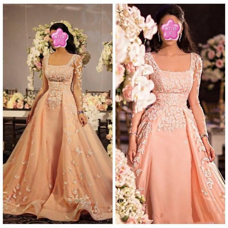 Pageant   Dresses   abendkleider Retro Elegant   Evening     Dress   vestido de festa longo A Line Formal Gowns Appliques Full Sleeves