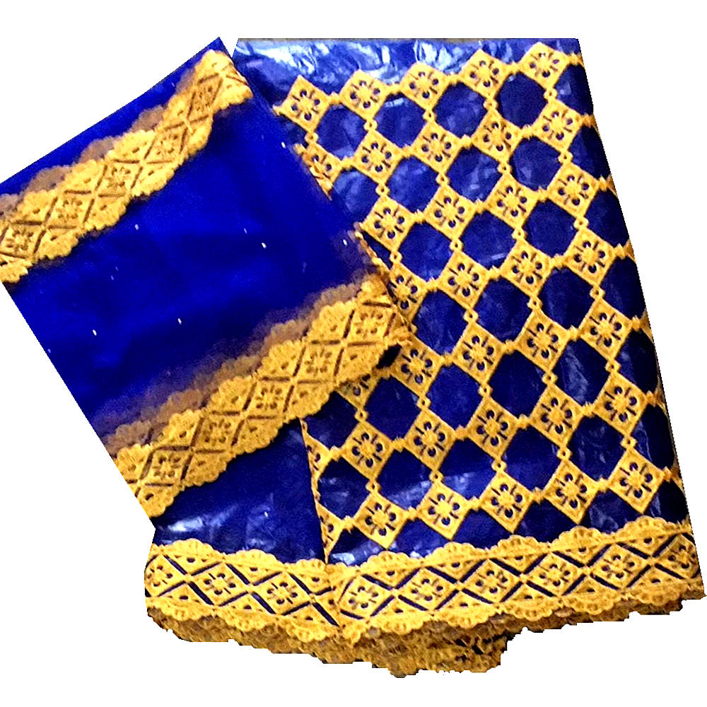 Le dernier tissu noir de brocart de jacquard de getzner de bazin riche avec des pierres 2119 tissus nigérians de dentelle 7 yards pour la robe de mariée B335-in Dentelle from Maison & Animalerie    1