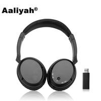 Aaliyah WS-3680 FM Cuffie Stereo Super Bass RF Ricevitore Wireless Con USB Emettitore TV Cuffie per Computer per iphone Xiaomi