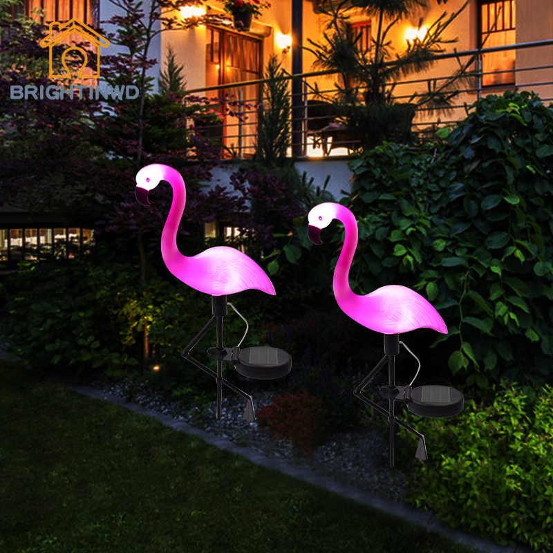LED Solar Stake Light Flamingo Light Lantern Decorative
