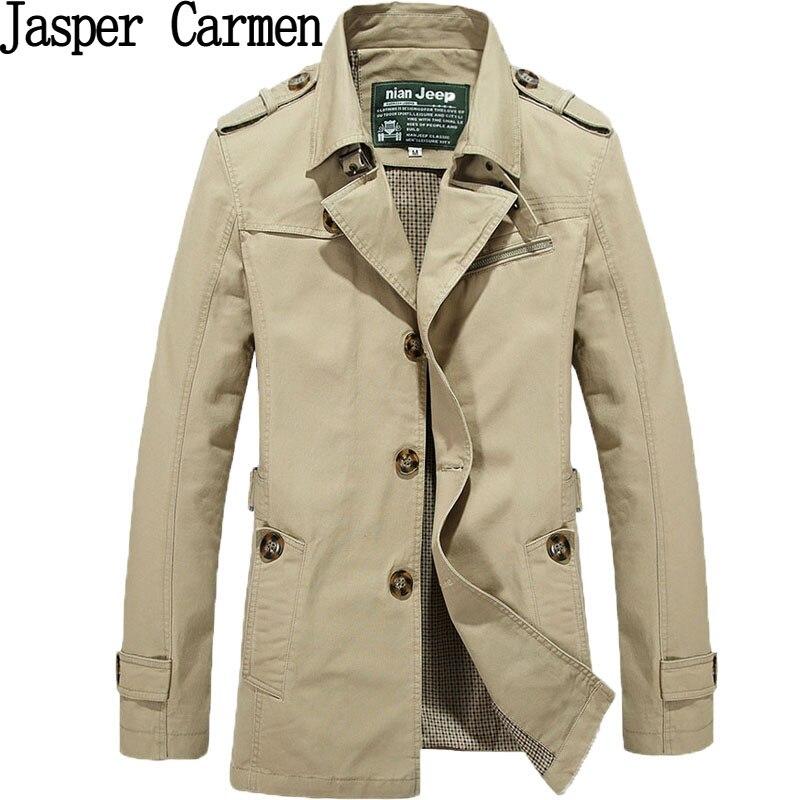 free shipping NIAN JEEP brand men windbreaker outwear trench coat jaqueta masculina men clothing plus size