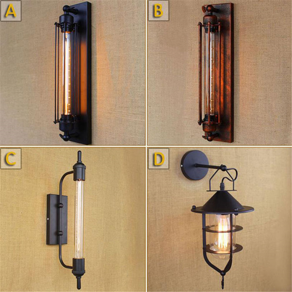 AC110V 220v steampunk T30 Edison bulb lamps Art Deco Vintage Wall sconces lamp home lighting decorative wall light sconces luz