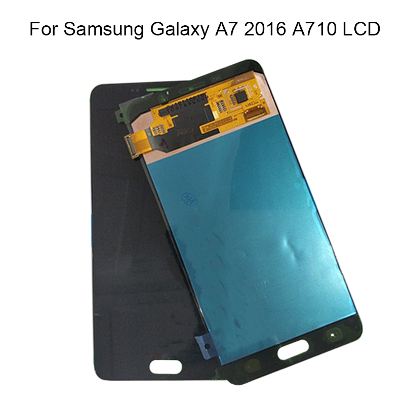 Super AMOLED For SAMSUNG GALAXY A7 2016 A710 LCD Display Touch Screen Digitizer Assembly Replacement For SAMSUNG A710 LCDSuper AMOLED For SAMSUNG GALAXY A7 2016 A710 LCD Display Touch Screen Digitizer Assembly Replacement For SAMSUNG A710 LCD