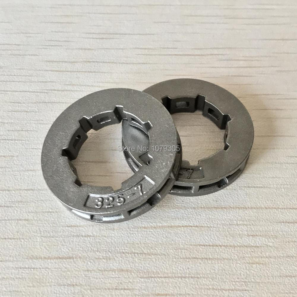 2Pcs Tool Parts Metal Chainsaw Spare Part Chain Saw Sprocket Rim Power Mate .325-7T For Chainsaw Replacement 45cc/52cc/4500/5200