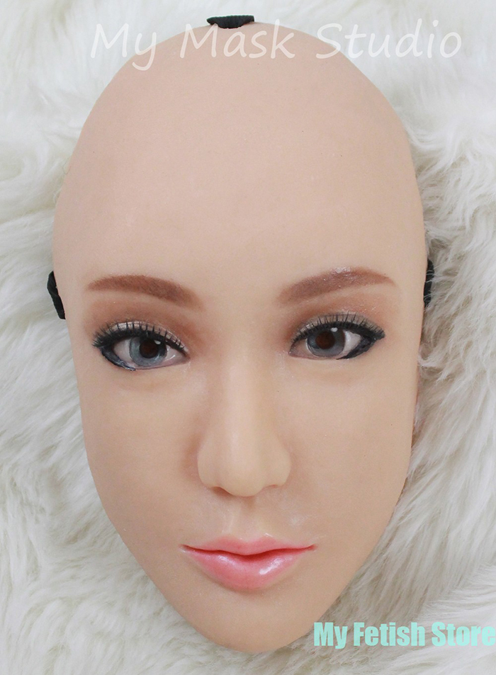 (Ching) Silicon de calitate Handmade Sexy și dulce Femeie Face Ching Crossdress Mask Crossdresser Doll