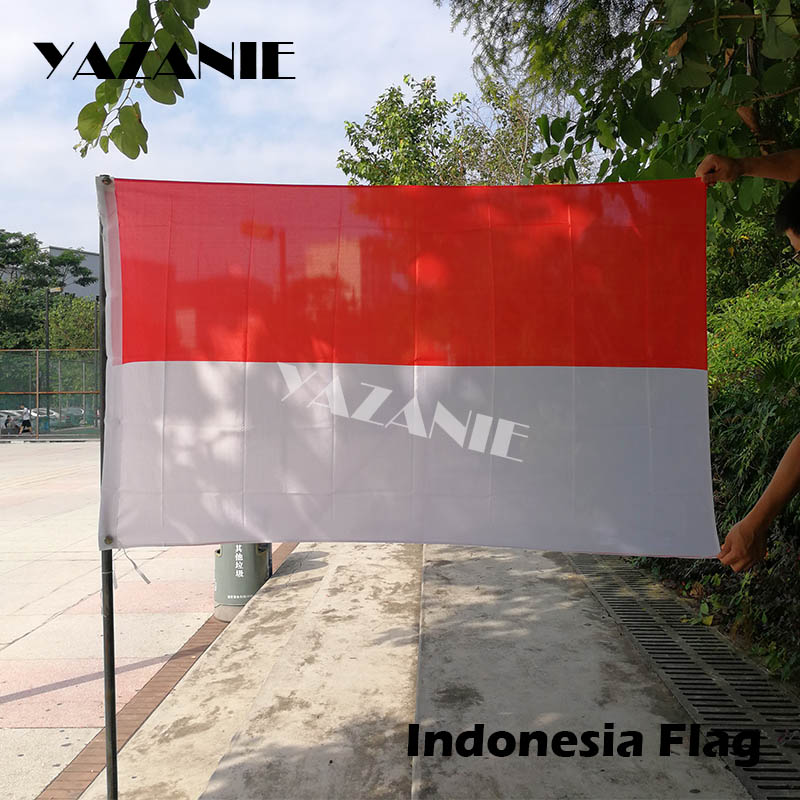 US $2 44 16% OFF|YAZANIE 90x150cm Indonesia National Flag New 3x5ft  Polyester National Flag Banner High Quality Cheap Price In kind Custom  Flag-in