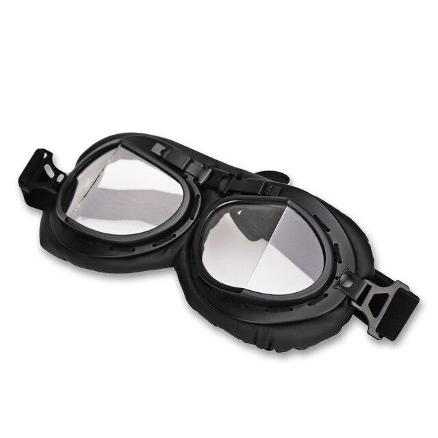 Claro Retro Do Vintage Óculos de Proteção Da Motocicleta Óculos de Aviador  Piloto DA SEGUNDA GUERRA 0d01f74ff8