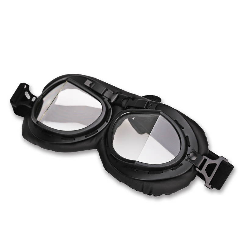 Clear Retro Vintage Motorcycle Goggles Motocross Aviator WWII Pilot Goggles Scooter Moto Motorbike Glasses For Harley все цены
