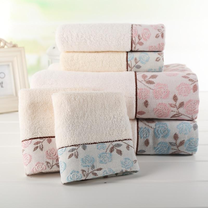 Bath Towels Lots: (3pcs/Lot) Bath Towel Set 100%cotton Embroidered 70cm