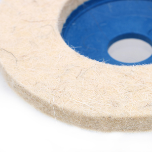 Image 3 - Leepee 10ピース/セットバフアングルグラインダーホイールフェルトウールホイール研磨ディスクパッドセット9.5センチメートルウール研磨パッド