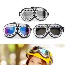 Cool Retro Vintage Aviator Pilot Bike Motorcycle Cycling Goggles Eyewear Glasses