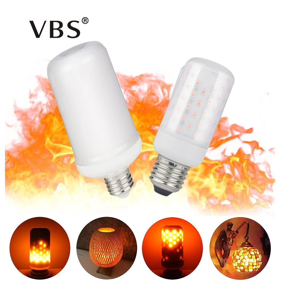2018 NOUVELLE LED flamme E27/E14 99leds 63 LEDs feu lampe 7 w 5 w 85- 265 v Feu de flamme De Couleur de lumière dynamique simulation Hiver Décorer