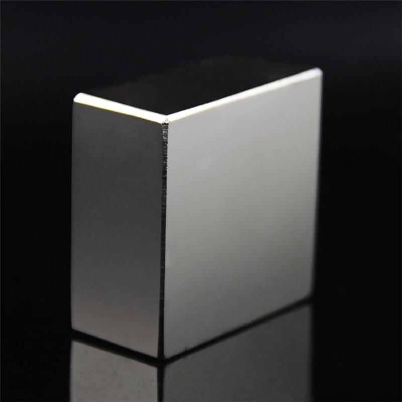 Super Leistungsstarke Starke Seltene Erde-block NdFeB Magnet Neodym N52 Magneten F40x40x20mm
