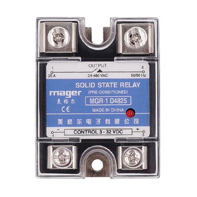 Smart Home Relay Power Accessories SSR 25A Single Phase Solid State Relay DC Control AC MGR-1 D4825 Load Voltage 24-480V