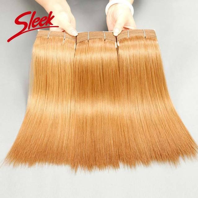 Sleek Brazilian Virgin Hair Striaght, Honey Blond27#, Brazilian Human Hair, Aliexpress UK Thickest bundle 3pcs/lot Free shipping