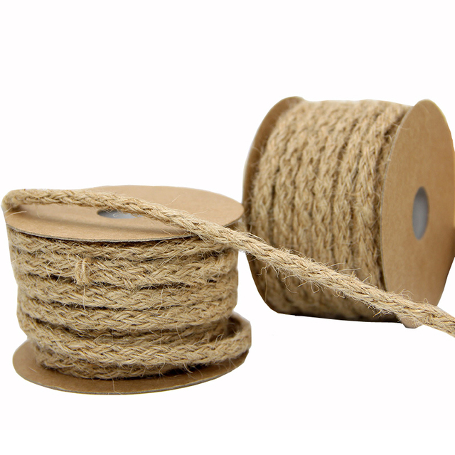 83cefc996ccd US $2.02 9% OFF|10M/Roll 0.6CM Vintage Handcraft Weave Hemp Rope Wedding  Party/Picture Wall DIY Decorative Knitting Cords Gift Packing String-in  Cords ...