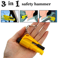 3 in 1 Emergency Mini Safety Hammer Auto Car Window Glass Breaker Seat Belt Cutter Rescue Hammer Car Life-saving Escape Tool 1PC
