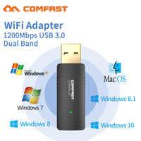 COMFAST CF-913AC 2,4G/5,8 GHz soporte de banda Dual 802,11 ac 1200Mbps USB 3,0 WI-FI adaptador inalámbrico AP repetidor tarjetas de red