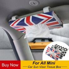 Автомобиль козырек от солнца Коробка ПУ ткани держатель салфеток Clipper для Mini Cooper JCW S один R55 R56 R60 R61 F55 F56 F60 автомобиль для укладки аксессуары