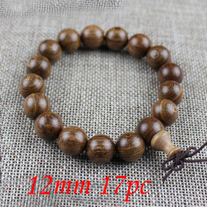 Image 3 - Yanqi 6 20mm wood sandalwood prayer beads elastic bracelet men jewelry Authentic African Buddha wood bead bracelet beads
