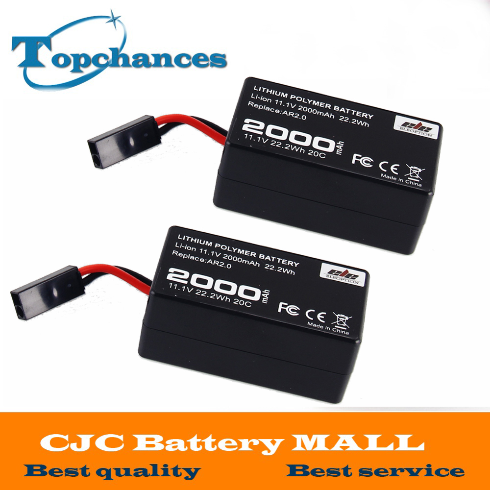 2X Alta Capacidade 2000 mAh 11.1 V 20C 22.2Wh Poderoso Li-Polímero Bateria Para Parrot AR. Drone2.0 Quadcopter