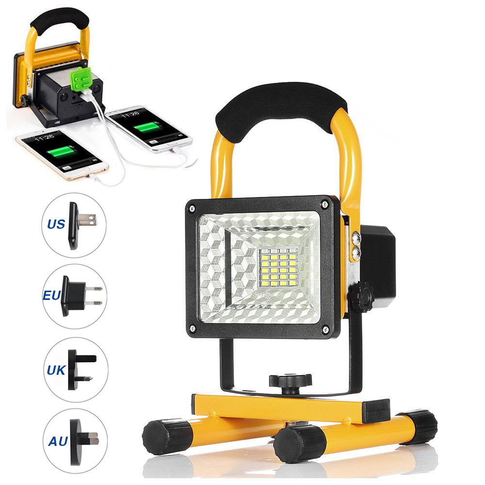 ФОТО 5W/24pcs Beads Rechargeable Camping Emergency Lights with SOS Mode, Portable Floodlights with 2X18650 and 2 USB Ports LED Lamps