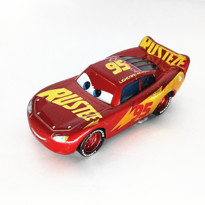 NewDisney Pixar sedan 3 toy car McQueen Jackson storm 1:55 die-cast metal alloy model toy car 2 boys birthday Christmas gift(China)