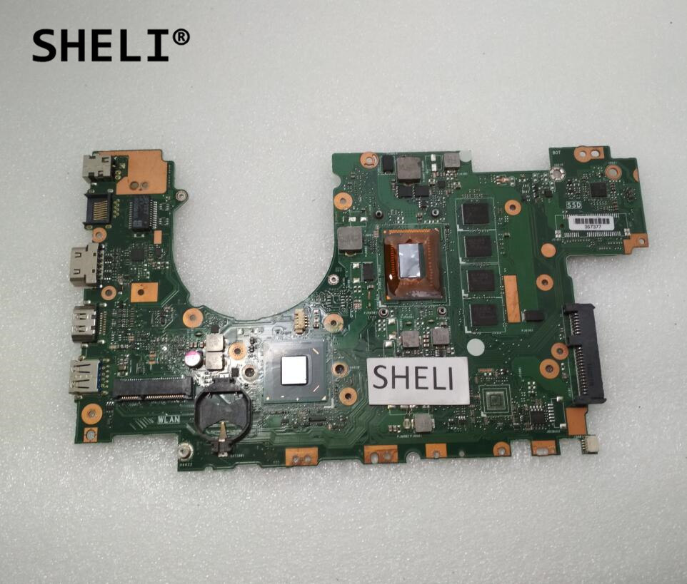 SHELI For Asus X402CA X502CA Motherboard With I3-3217U Cpu 4GB Memory REV2.1