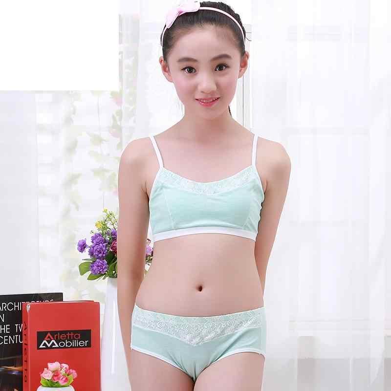 Soft Bra Teenage Underwear Bra Set Training Bras And -6224